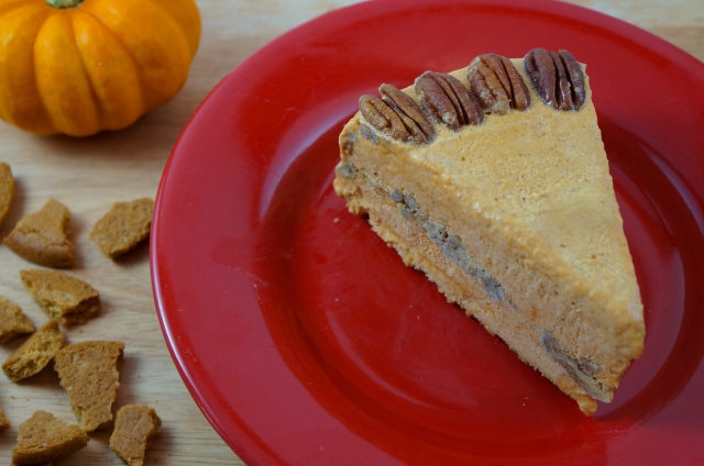 Gingersnap Pumpkin Ice Cream Cake {by breaking bland eats}