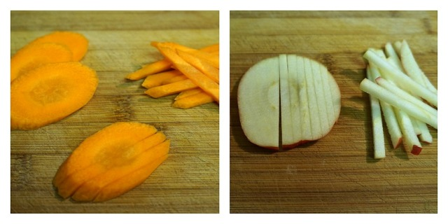 Julienned Carrots and Apple