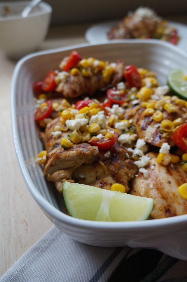Tequila Lime Chicken with Warm Corn Salsa