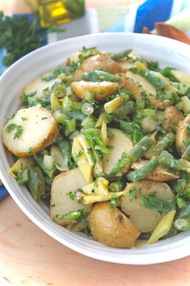 New Potato Salad with Green Bean and Basil