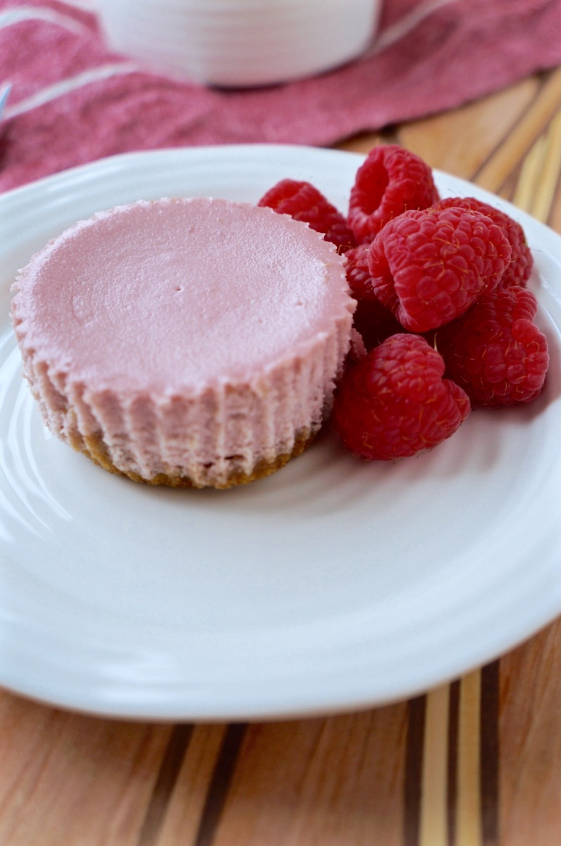 Mini Raspberry Lemon Cheesecakes